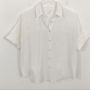 Rag & Bone Jean Short Sleeve Button Up Shirt XS